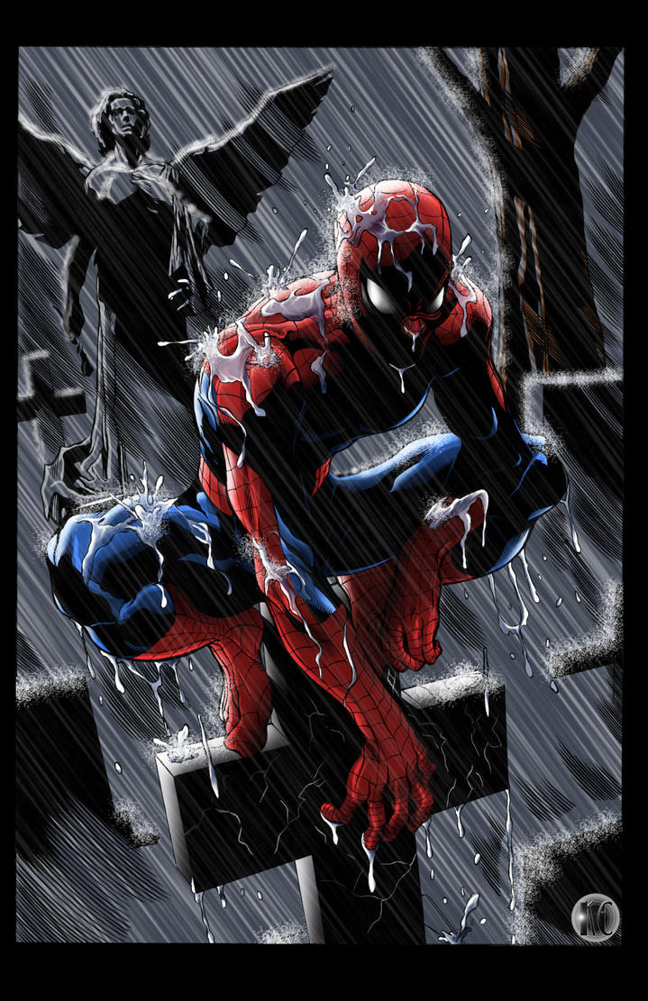 Spider Man Pondering By Kyle Chaney On Deviantart