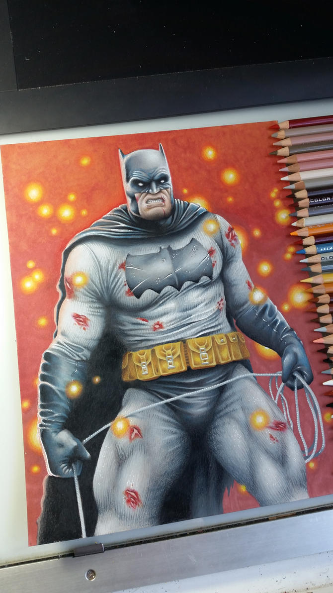 Batman Colored Pencil by KYLE-CHANEY