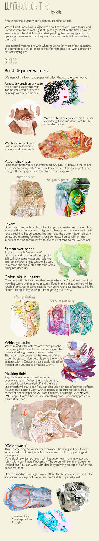 Watercoloring tips