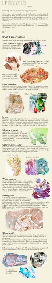 Watercoloring tips
