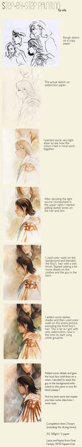 Step-by-step watercolor