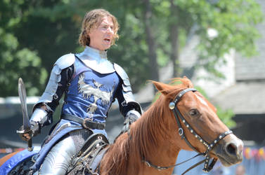 Bristol Renaissance Faire - 3 - Blue Knight by LostGryphin