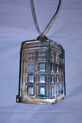 Polymer Clay Tardis - Stamp and Pearl Ex Test (1B)
