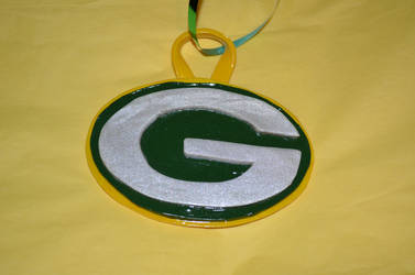 Polymer Clay Green Bay Packers Ornament - (1A)
