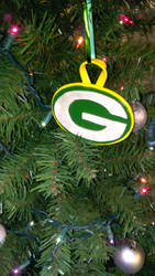 Polymer Clay Green Bay Packers Ornament - (1B)