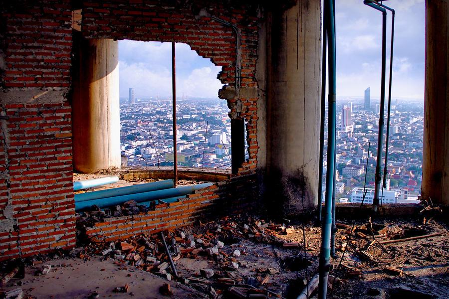 THE SATHORN UNIQUE BUILDING - URBAN EXPLORATION by JustOneWayTicket on Devian...