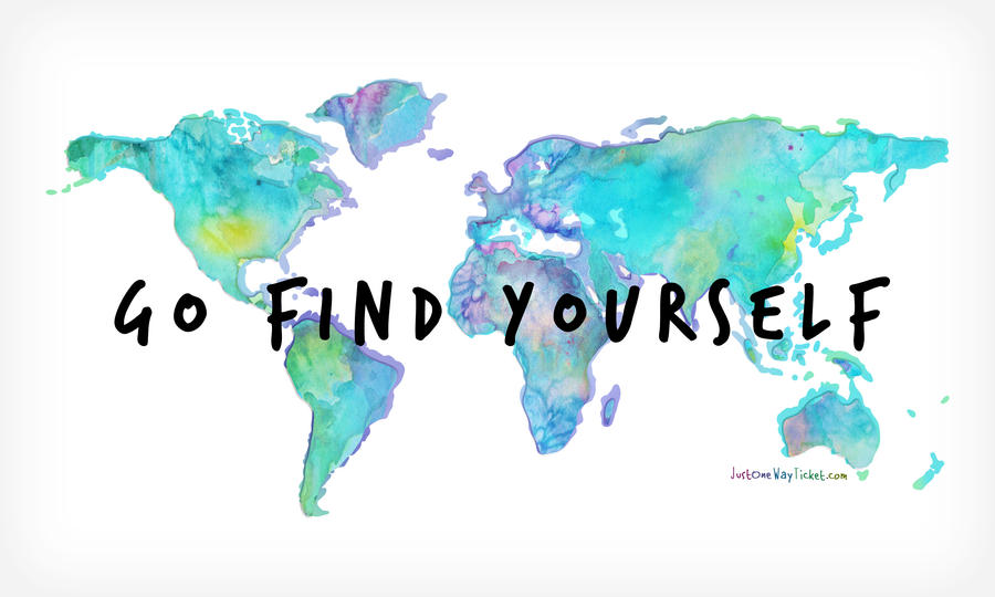 Go find yourself world map aquarell water color by go find yourself world map aquarell water color by justonewayticket gumiabroncs Gallery