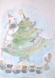 .slytherin's christmas tree by immacola