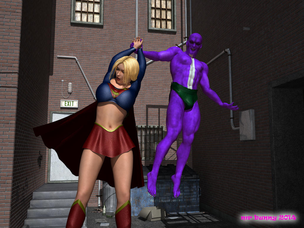Supergirl meets Parasite 03 by mrbunnyart