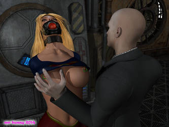 Supergirl meets Parasite 05 by mrbunnyart