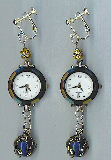 Watch Earrings by ArcadianSpaceship