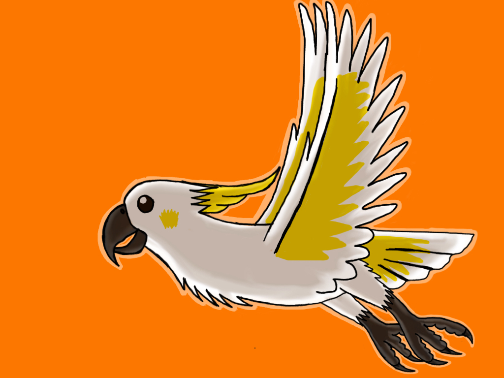 Sulphur crested cockatoo by barnowlgurl23