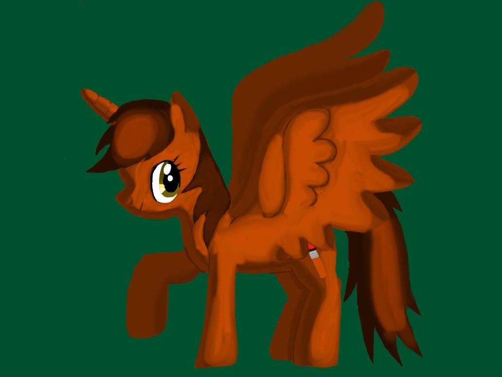 Lineless pony drawing by barnowlgurl23