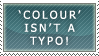 Colour isn't a typo stamp by ARTic-Weather