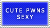 Cute pwns sexy stamp by ARTic-Weather