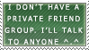 No private friend group stamp by ARTic-Weather