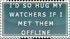 Hug watchers stamp