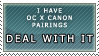 OC x Canon stamp by ARTic-Weather