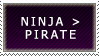 Ninja better then pirate stamp by ARTic-Weather
