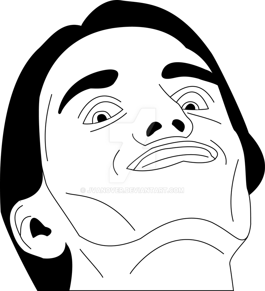 LaytzFace Vector BW by JVanover