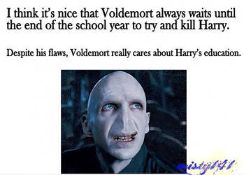 Voldemort really cares about Harry's ... by misty141