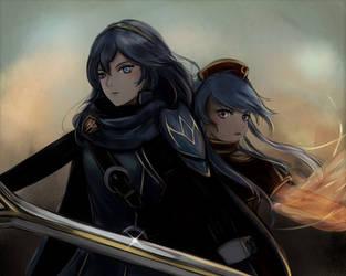 Fire Emblem - Lucina and Lilina by leonmandala