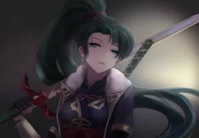 Fire Emblem - Swordmaster Lyn by leonmandala