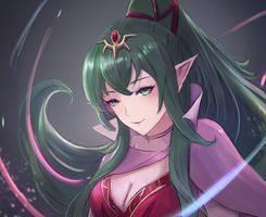 Fire Emblem - Naga's Voice, Tiki by leonmandala