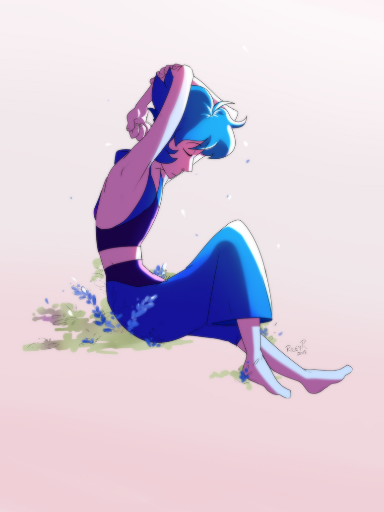 she's pretty I was playing with lighting/soft shading and it turned out 'ight lapis lazuli [c] steven universe paint tool sai + photoshop 2015