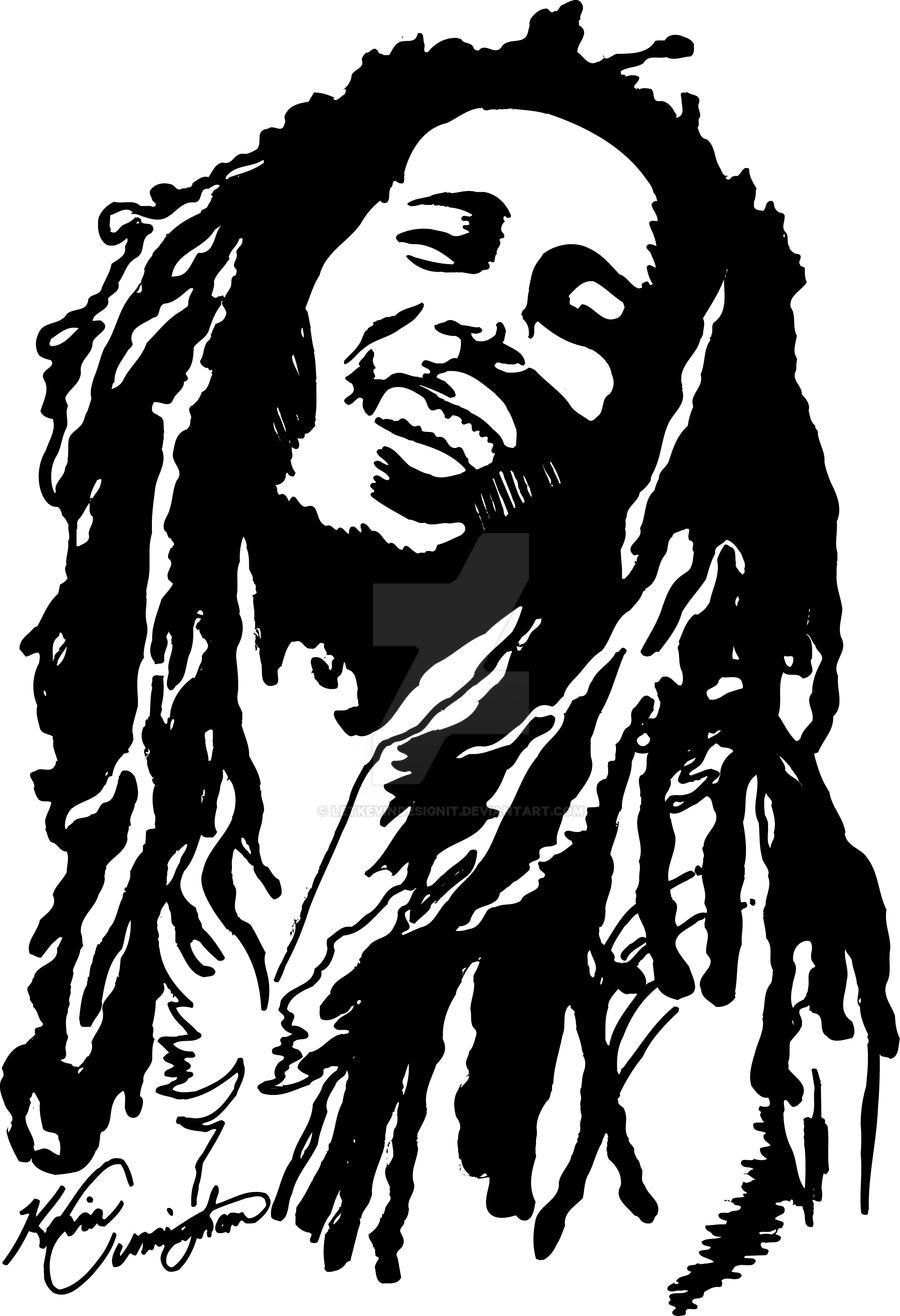 Bob Marley Drawing By Letkevindesignit On Deviantart Bob Marley Desenho Para Colorir