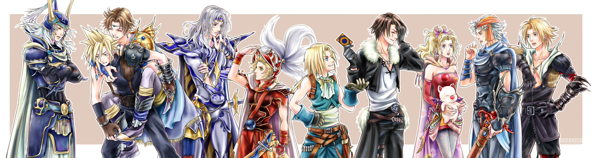 Dissidia Cosmos Heroes by hummingbird712