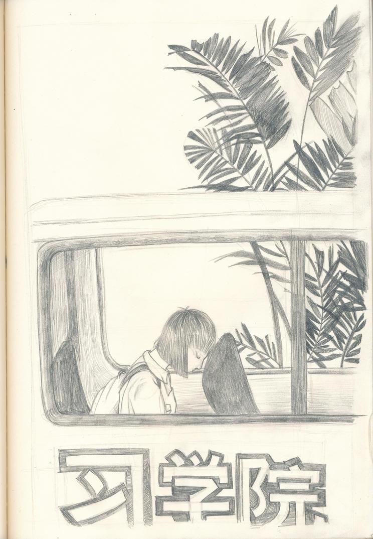 Malaysia sketchbook #7 (Bas sekolah) by hyakamaru
