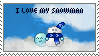 I Love My Snowman Stamp by yarjor