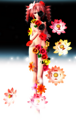 [MMD] - OG Contest Enrty - Sleepy Flower by MMDTeto13
