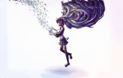 Hatsune Miku by ghostchiryou