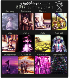 2017 Summary of Art by ghostchiryou