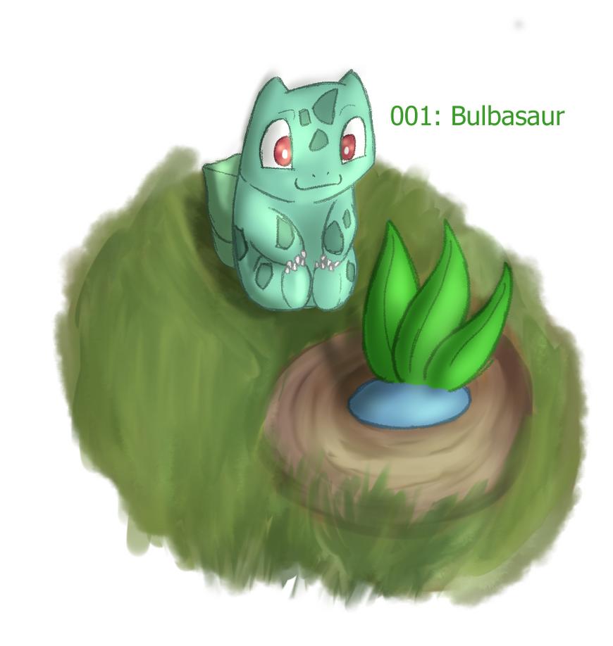 001: Bulbasaur, watching grass grow by ChrisSketch28