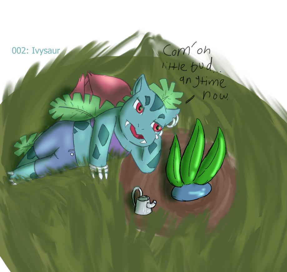 002: Ivysaur, still watching the grass grow by ChrisSketch28