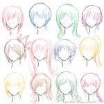 Hair Ref - 12 Hairstyles