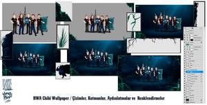 HWA GAMING LOL Team / Chibi Wallpaper / Layers