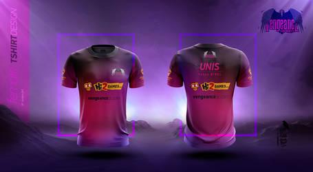 Vengeance Female Team 2017 Tshirt Design
