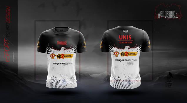 Vengeance Black Team 2017 Tshirt Design