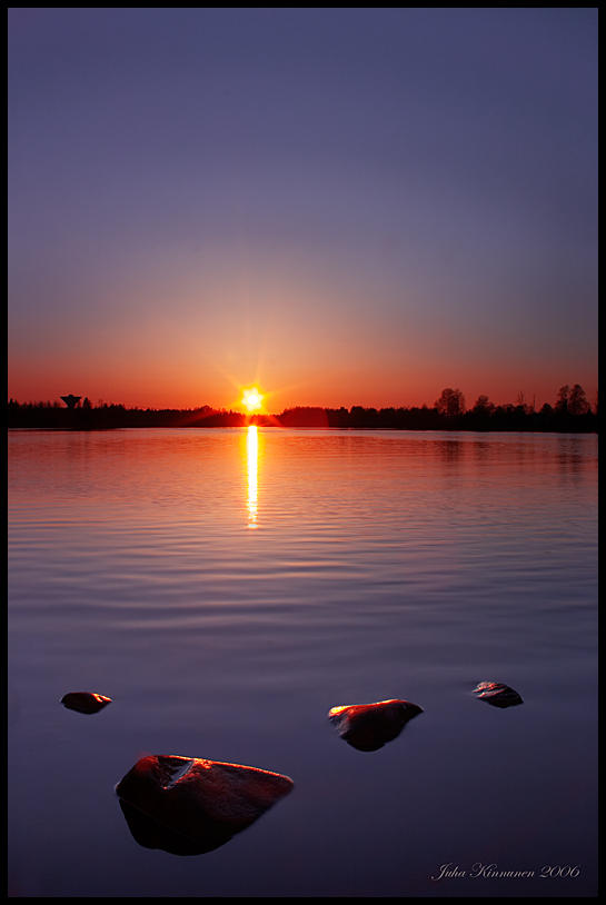 Oulujoki Sunset by jjuuhhaa