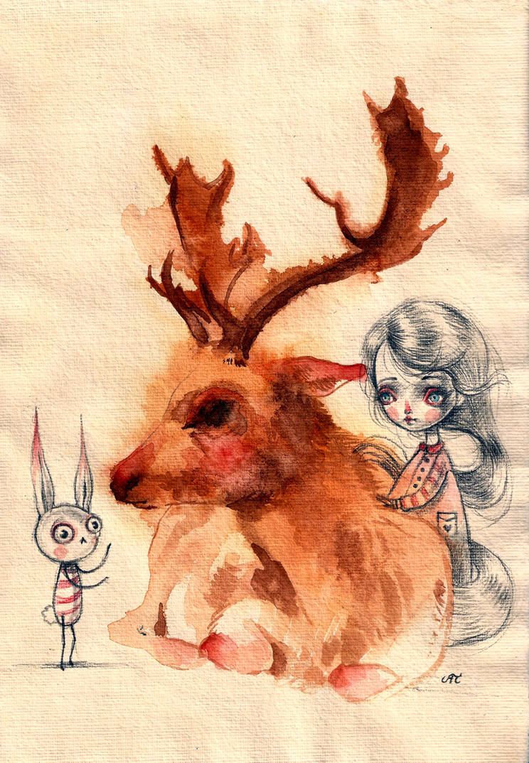 deer friend by super-ania
