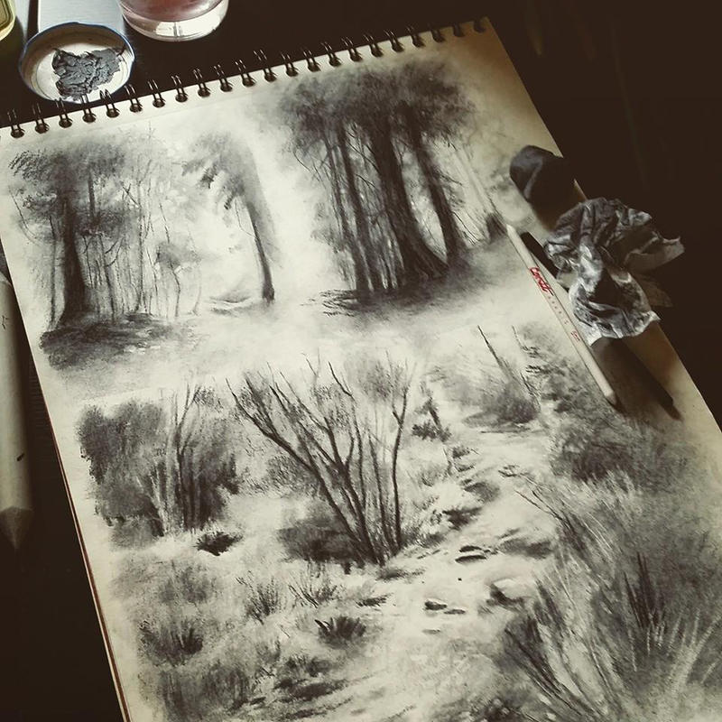 Charcoal sketches by super-ania