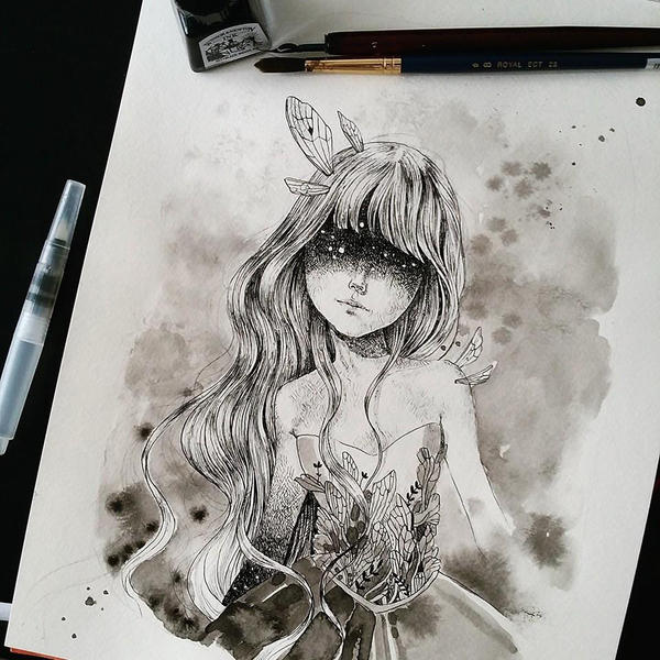 Inktober day 3 by super-ania