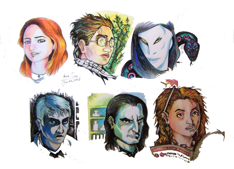 Harry Potter Book Characters : Harry potter characters sketch by feluda on deviantart