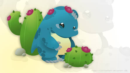 Quaggan wants to be a cactus - Gw2 POF by Clarisse2DArt