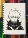 Katsuki Bakugo Ink Drawing