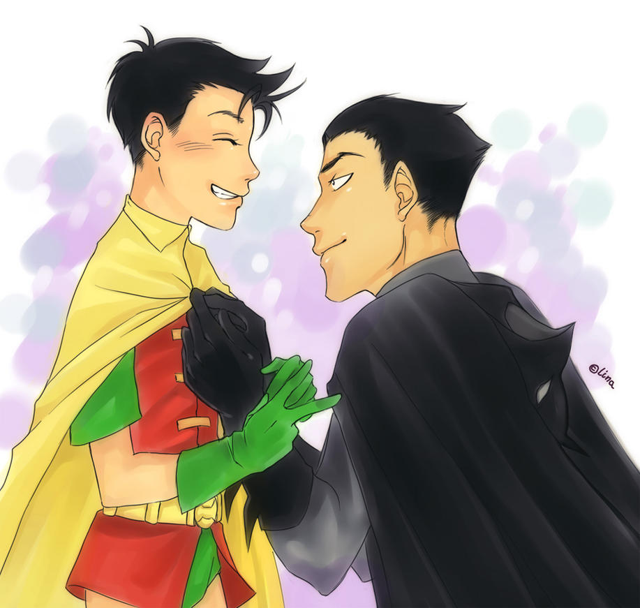 Batman and robin by linart on deviantart